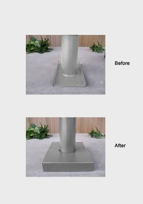 Stainless Steel Base Plate Cover