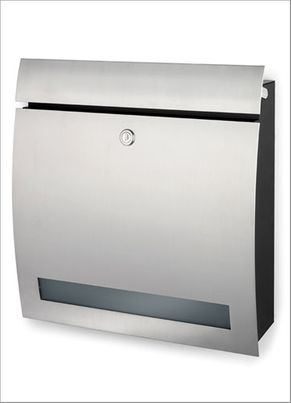 Extra Wide Wall Mounted Stainless Steel Contemporary Mailbox With Lock