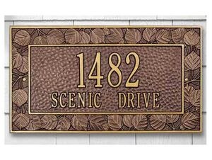 Horizontal Address Plaques