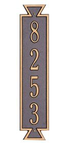 Standard Size Exeter Vertical Wall Plaque - (1 Line)