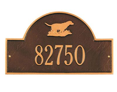 Whitehall Standard Size Retriever Arch Wall or Lawn Plaque - (1 or 2 lines)