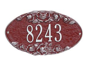 Standard Size Rose OVAL Wall Plaque - (1 Line)