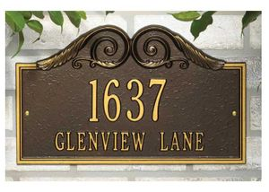 Standard Size Versailles Wall Plaque - (1 or 2 Lines)