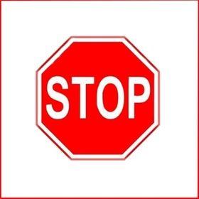 """Stop Sign Reflective Faceplate 18"""""""