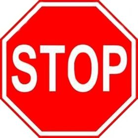 """Stop Sign Reflective Faceplate 30"""""""