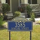 Sunburst - Two Line Estate Lawn Address Sign
