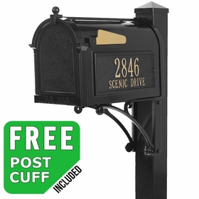 Whitehall Superior Streetside Mailbox Package in Black