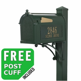 Whitehall Superior Streetside Mailbox Package in Green