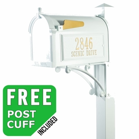 Whitehall Superior Streetside Mailbox Package in White