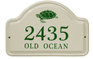 Whitehall Turtle Ceramic Arch - Standard Two Line Wall Plaque - Green