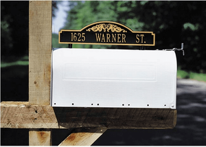Two-sided Mailbox Address Markers - Standard - Mailbox Mount - Scroll Marker One Line