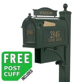 Whitehall Ultimate Streetside Mailbox Package in Green