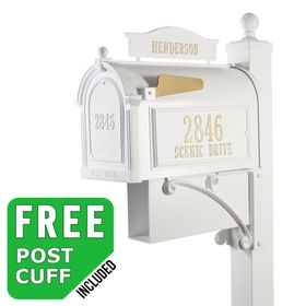 Whitehall Ultimate Streetside Mailbox Package in White