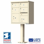 USPS Approved 4 Door Cluster Mailboxes