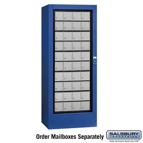 Salsbury 3100BLU Rotary Mail Center Aluminum Style Blue (Mailboxes Sold Separately)