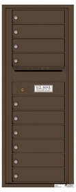 Versatile Rear Loading Commercial Mailbox with 10 Tenant Doors and Outgoing Mail Slot - Single Column