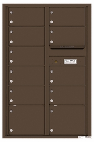 Versatile Rear Loading Commercial Mailbox with 11 Tenant Compartments and Outgoing Mail Slot - Double Column