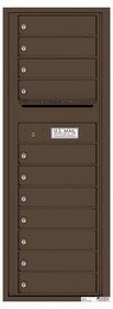 Versatile Rear Loading Commercial Mailbox with 11 Tenant Compartments and Outgoing Mail Slot - Single Column