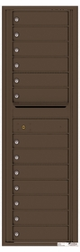 Versatile Rear Loading Commercial Mailbox with 13 Tenant Doors