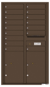 Versatile Rear Loading Commercial Mailbox with 16 Tenant Doors and 2 Parcel Lockers