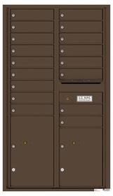 Versatile Rear Loading Commercial Mailbox with 17 Tenant Doors and 2 Parcel Lockers