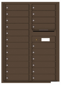 Versatile Rear Loading Commercial Mailbox with 22 Tenant Doors and Outgoing Mail Slot - Double Column