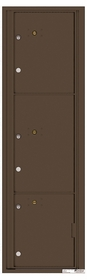 Versatile Rear Loading Commercial Mailbox with 3 Parcel Lockers