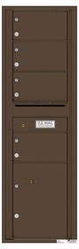 Versatile Rear Loading Commercial Mailbox with 4 Tenant Doors and 1 Parcel Locker