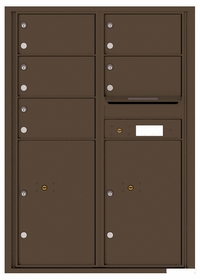Versatile Rear Loading Commercial Mailbox with 5 Tenant Doors and 2 Parcel Lockers - Double Column