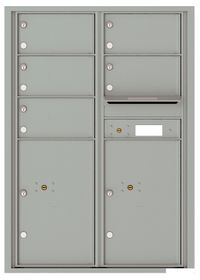 Versatile Front Loading Commercial Mailbox with 5 Tenant Doors and 2 Parcel Lockers - Double Column