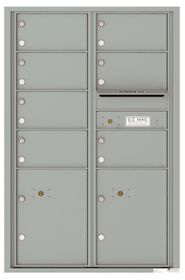 Versatile Front Loading Commercial Mailbox with 7 Tenant Compartments and 2 Parcel Lockers - Double Column