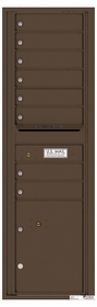 Versatile Rear Loading Commercial Mailbox with 8 Tenant Doors and 1 Parcel Locker