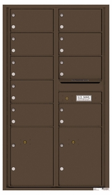 Versatile Rear Loading Commercial Mailbox with 9 Tenant Doors and 2 Parcel Lockers