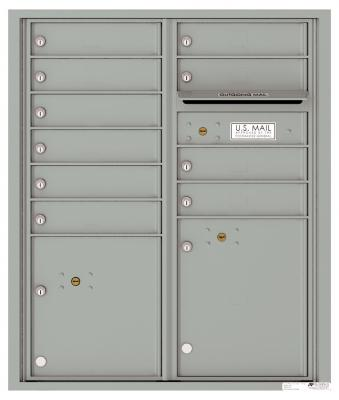 Versatile Front Loading Double Column Commercial Mailbox with 10 Tenant Compartments and 2 Parcel Lockers