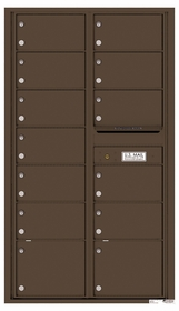 Versatile Rear Loading Double Column Commercial Mailbox with 13 Tenant Doors