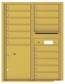 Versatile Front Loading Double Column Commercial Mailbox with 15 Tenant Doors and 1 Parcel Locker
