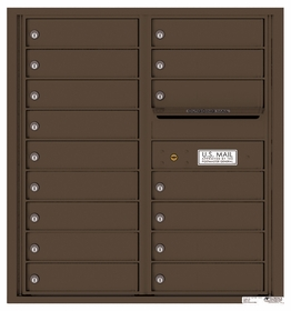 Versatile Rear Loading Double Column Commercial Mailbox with 16 Tenant Doors and Outgoing Mail Slot