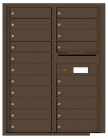 Versatile Rear Loading Double Column Commercial Mailbox with 20 Tenant Doors and Outgoing Mail Slot