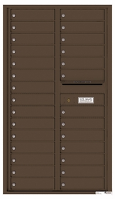 Versatile Rear Loading Double Column Commercial Mailbox with 28 Tenant Doors