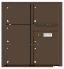 Versatile Rear Loading Double Column Commercial Mailbox with 6 Tenant Compartments and Outgoing Mail Slot