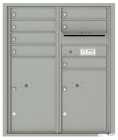 Versatile Front Loading Double Column Commercial Mailbox with 7 Tenant Compartments and 2 Parcel Lockers