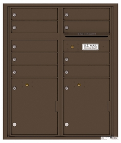 Versatile Rear Loading Double Column Commercial Mailbox with 9 Tenant Compartments and 2 Parcel Lockers