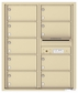 Versatile Front Loading Double Column Commercial Mailbox with 9 Tenant Compartments and Outgoing Mail Slot