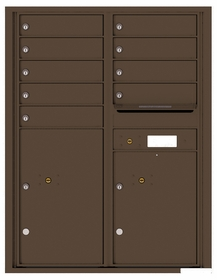 Versatile Rear Loading Double Column Commercial Mailbox with 9 Tenant Doors and 2 Parcel Lockers