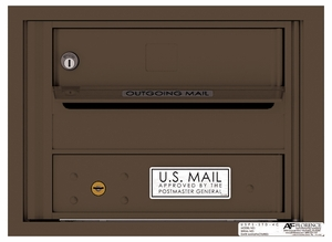 Versatile Rear Loading Fully Recessed 4C Mailbox with 1 Tenant Door and Outgoing Mail Slot