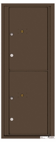 Versatile Rear Loading Fully Recessed Single Column Commercial Mailbox with 2 Parcel Lockers