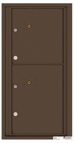 Versatile Rear Loading Fully Recessed Single Column Commercial Mailbox with 2 Extra-Large Parcel Lockers