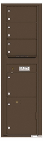 Versatile Rear Loading Mailbox 4 Tenant Compartments and 1 Parcel Locker