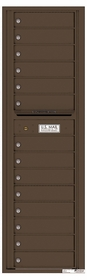 Versatile Rear Loading Mailbox with 14 Tenant Compartments