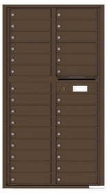 Versatile Rear Loading Mailbox with 29 Tenant Compartments
